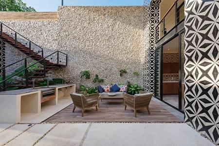 下沉式家居庭院强烈来袭,空间更私密层级更丰富