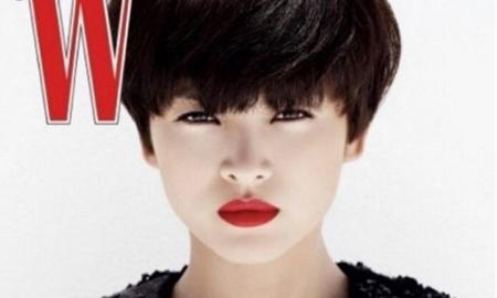 宋慧乔晒短发造型,眼神犀利配红唇,盘点短发发型图片