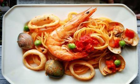 海鲜意面的完整做法,新鲜大虾打造西式美味