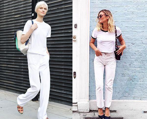 白色长裤搭配 这样穿能让人眼前一亮
