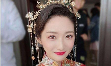 2019新娘妆唯美图片,中式新娘妆容的时尚画法