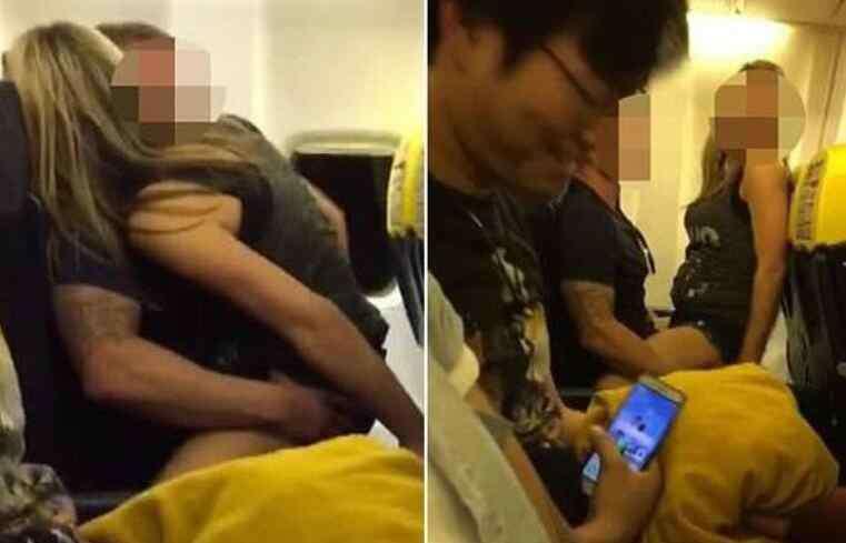 情侣飞机上做不雅之事 情侣飞机上全裸大做不雅之事 空乘人员从头到尾