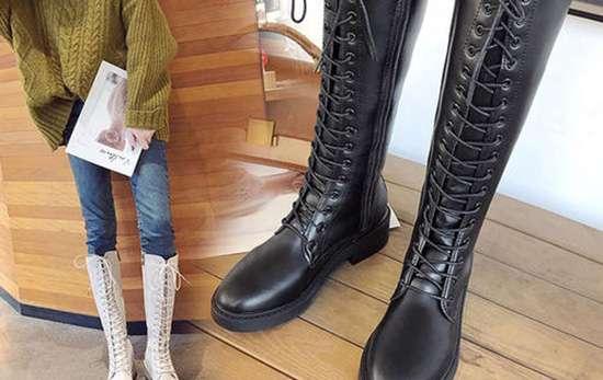 马丁靴鞋带系法 马靴鞋带系法