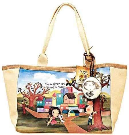 时尚环保袋 可爱环保袋设计理念 自带时尚环保袋图片响应无炭生活