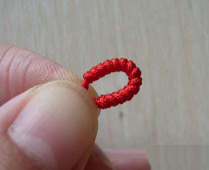 玉米结编法 玉米结红绳手链的编法图解
