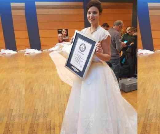 世界上最长的婚纱 世界上最长的婚纱
