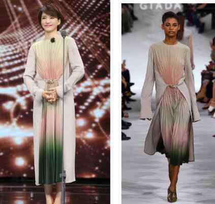 giada是什么牌子 声临其境董卿衣服是什么品牌的 优雅长裙展现董卿女神气质