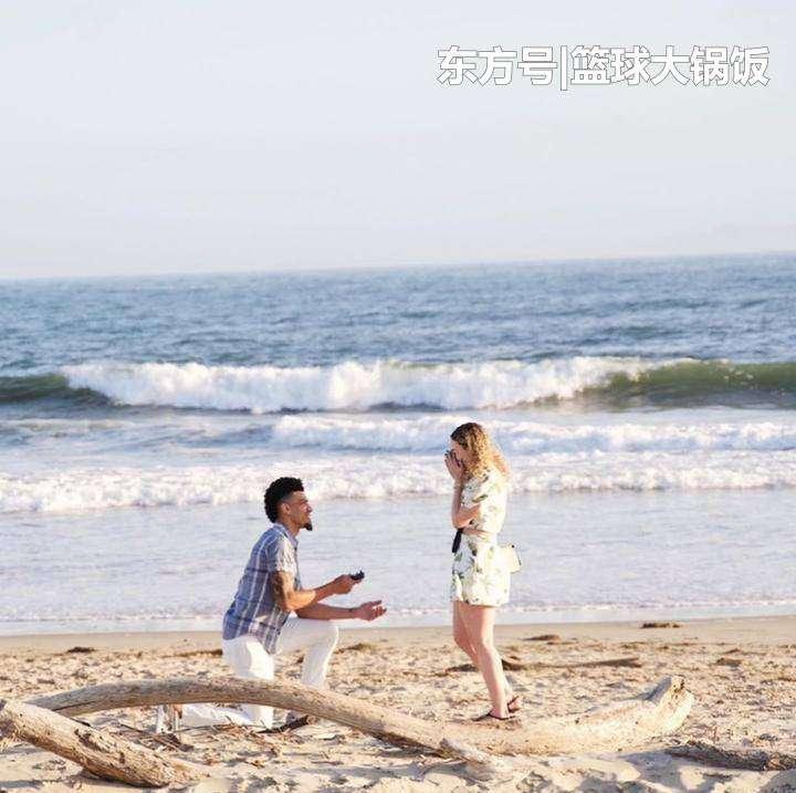 bashen 湖人32岁大将求婚成功!他与女友已交往5年,俩人海边秀恩爱