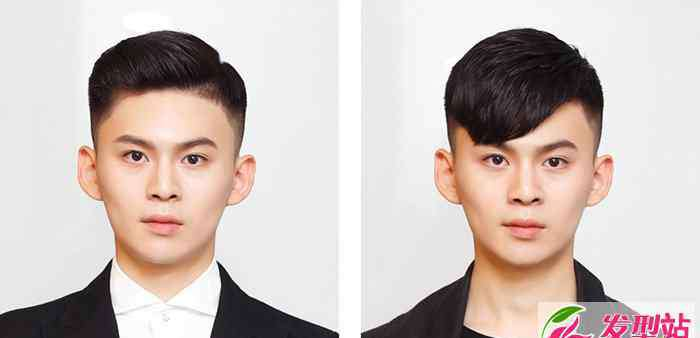 侧背头和斜背头区别 男士两边剃光适合什么刘海 侧背头和斜刘海对比图
