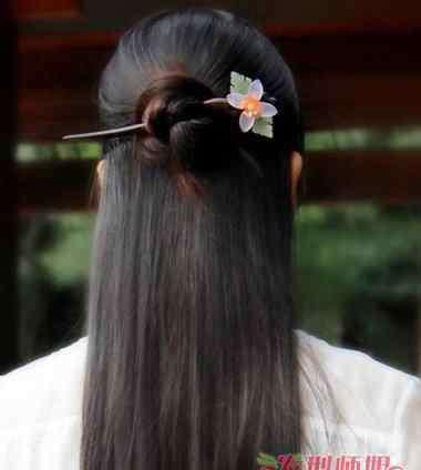 发簪图片 发簪发型图片 女孩简单发簪发型