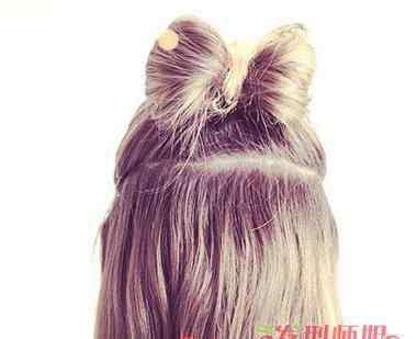 蝴蝶结头发怎么扎 用自己的头发绑的蝴蝶结是怎么绑的 头发怎么扎成蝴蝶结