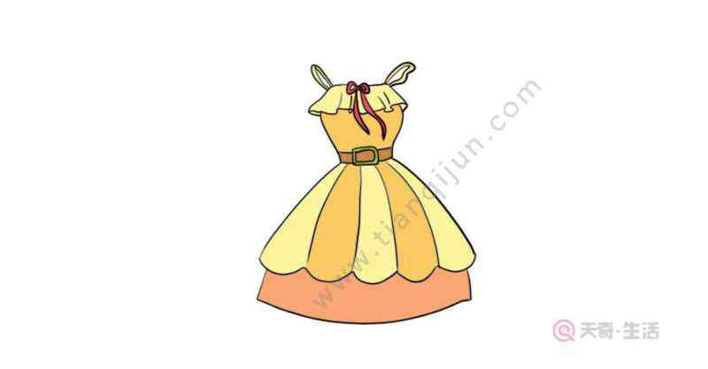 画连衣裙 连衣裙涂色画