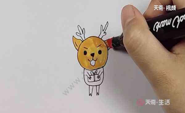 给小鹿上色 小鹿涂色