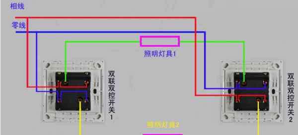双控开关带插座接线图 双联双控开关接线实物图