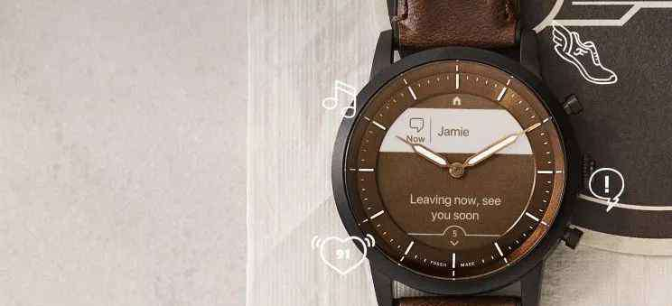 fossil手表链 墨水屏+物理指针!Fossil 这次把智能手表和石英表完美融合在一起了