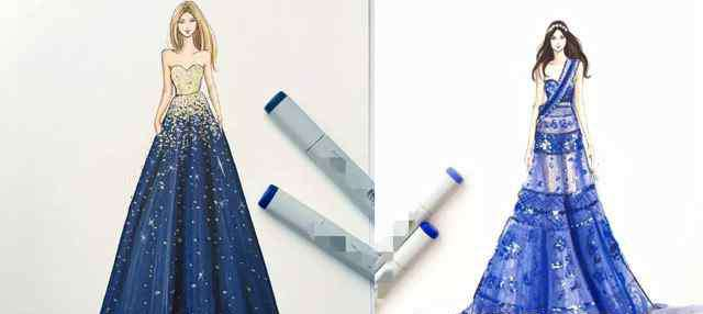 """公主裙礼服裙 美术生最美手绘礼服,不是""""公主裙"""",不是""""天鹅服"""",而是这个"""