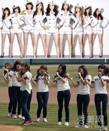 少女时代组合照片 少女时代6名成员 整容前后对比照不忍直视