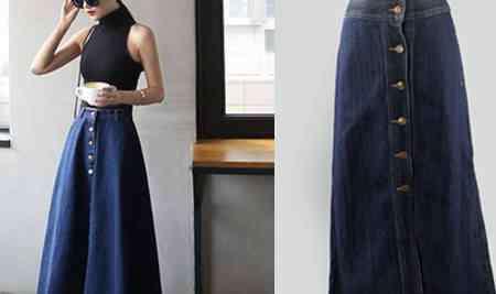 牛仔裙配什么上衣 长牛仔裙怎么搭配上衣图片 多种穿搭风格总有一个适合你