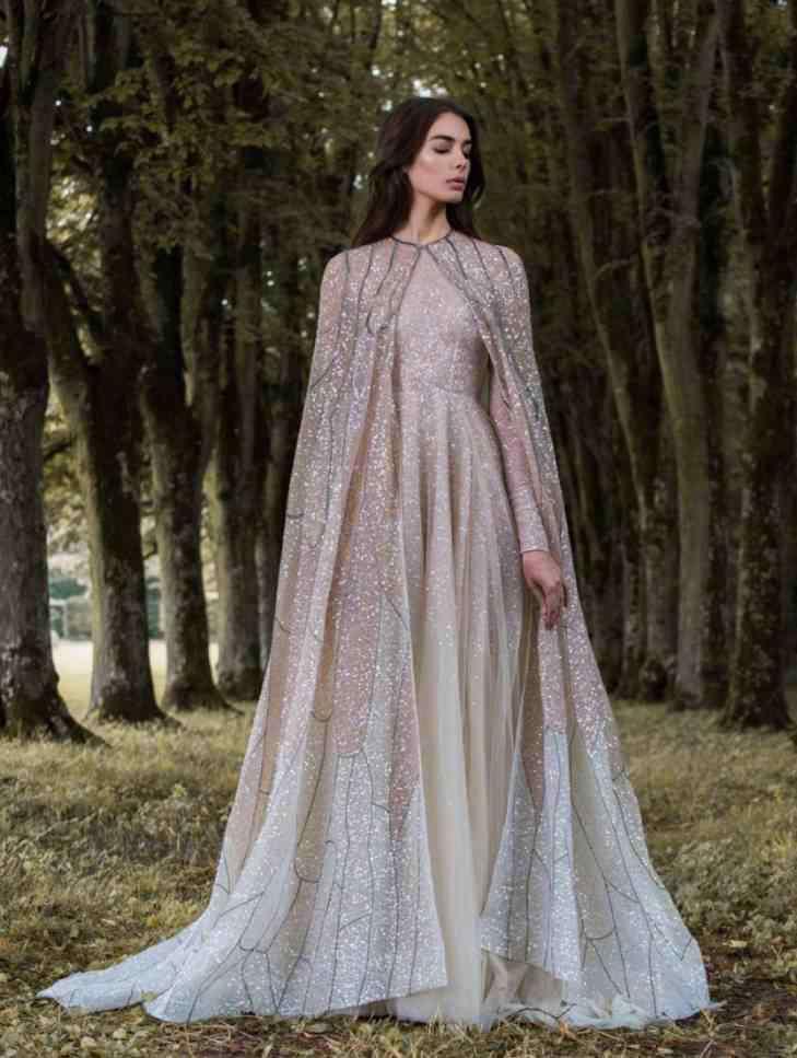"""仙女系礼服 如果这世间有天使,那一定是婚礼现场,穿""""森林仙女系""""礼服的你"""