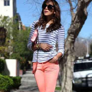 糖果色铅笔裤 糖果色铅笔裤应该怎么搭配