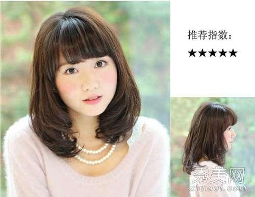 中长微卷发 2013冬季女生发型 16款中长微卷发最流行