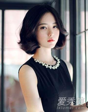 无刘海短发 9款韩式女生短发发型 无刘海短发最优雅