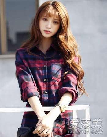 水波纹图片 韩式水波纹发型图片 这样烫卷才好看