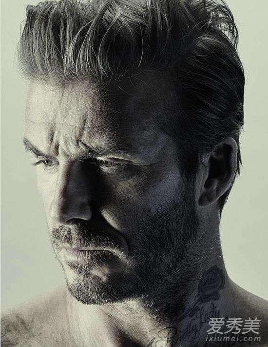 贝克汉姆汉字纹身 贝克汉姆半裸写真曝光 全身刺青清晰可见