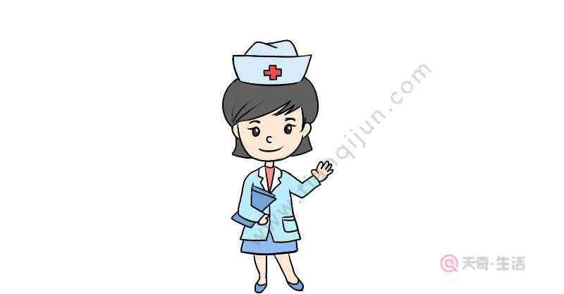 画护士 护士节护士简笔画怎么画  护士节护士简笔画画法
