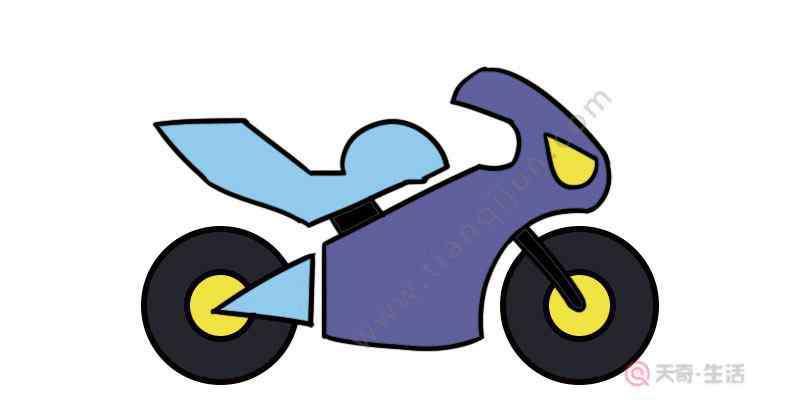 摩托车简笔画图片大全 摩托车简笔画怎么画  怎么画摩托车简笔画