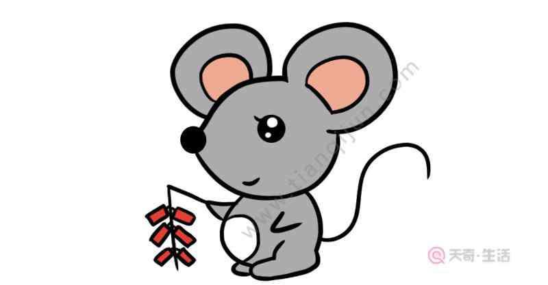 小老鼠上灯台简笔画 放鞭炮的小老鼠简笔画 放鞭炮的小老鼠怎么画