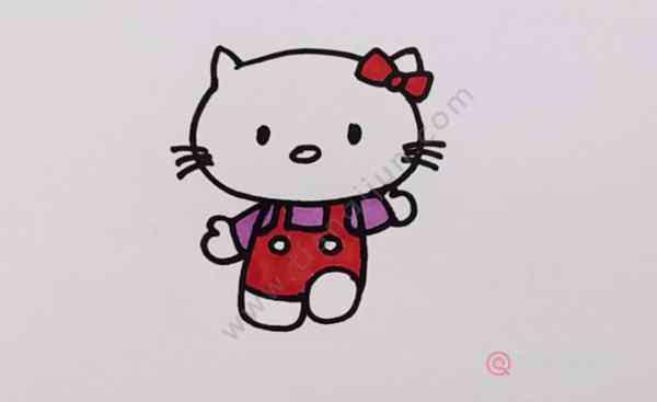 kitty猫简笔画 凯蒂猫简笔画