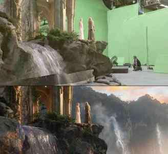 没有特效的电影图 没有特效电影图走红:电影添加特效前后对比图走红