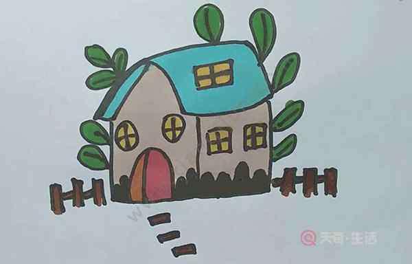 小房子简笔画 小屋子简笔画