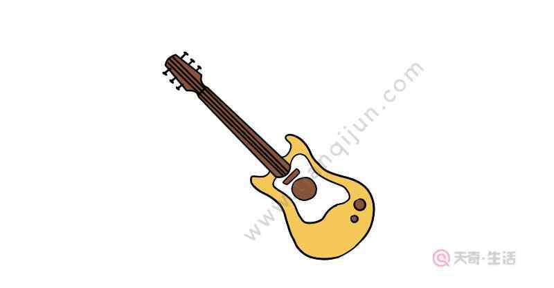 吉他简笔画 吉他简笔画怎么画  吉他简笔画画法