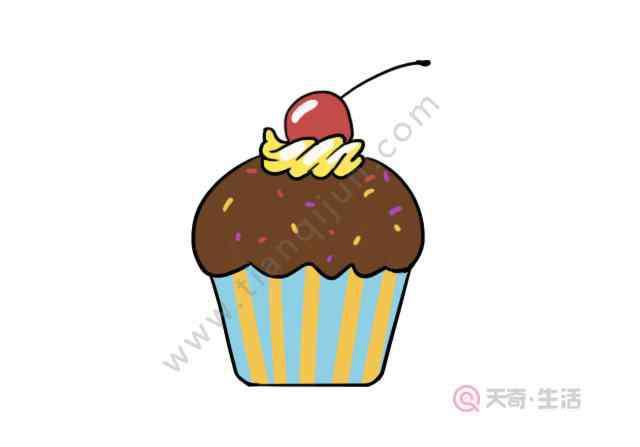 画一些可爱的小甜品 甜品简笔画 甜品的简单画法