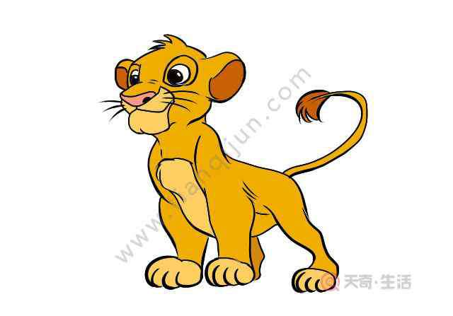 狮子王简笔画 狮子王怎么画