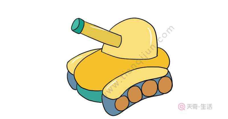装甲车画法 装甲车简笔画的教程  装甲车简笔画的画法