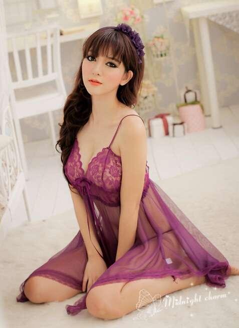 透明睡袍 美女透明睡衣诱惑 性感睡衣写真