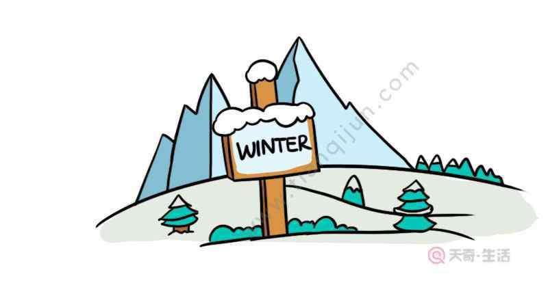 以冬天为主题的简笔画 冬天景色主题画简笔画