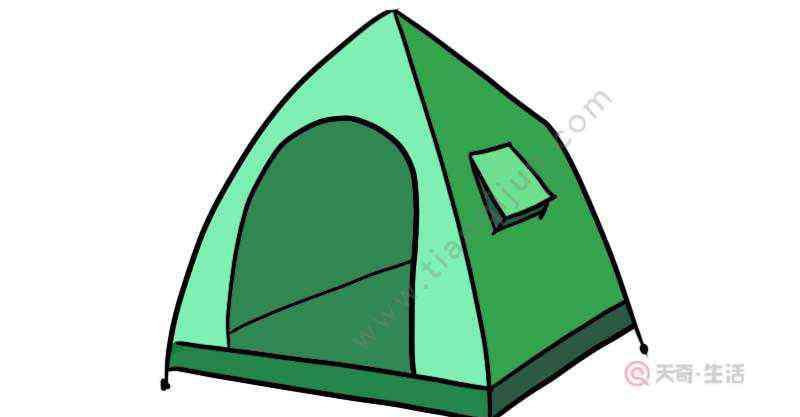 帐篷怎么画 帐篷简笔画 帐篷简笔画画法