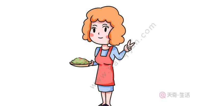 厨师简笔画 我的妈妈是厨师简笔画怎么画  我的妈妈是厨师简笔画画法