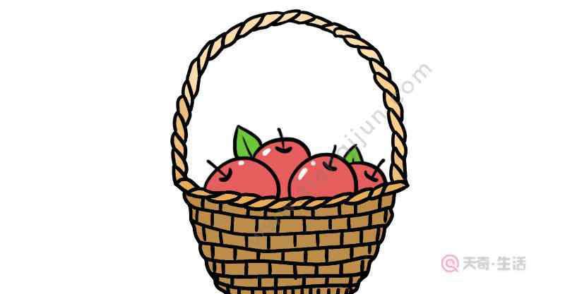 水果篮简笔画 水果篮简笔画怎么画  怎么画水果篮简笔画