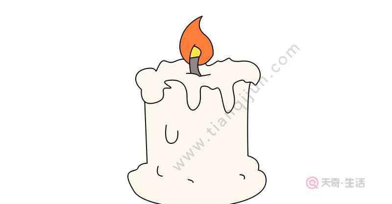 蜡烛怎么画 蜡烛简笔画画法  蜡烛简笔画怎么画
