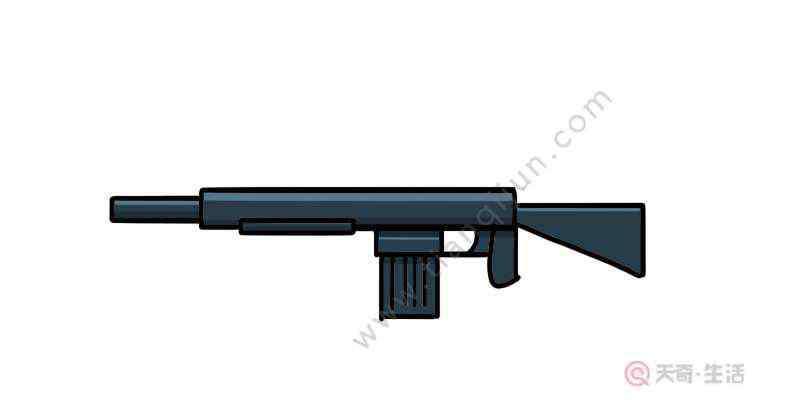 m416简笔画 m416突击步枪简笔画