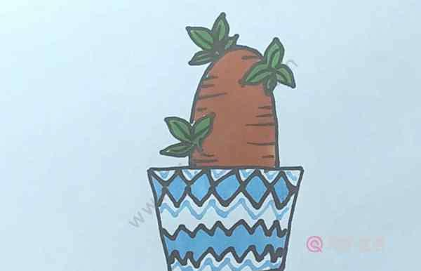 花盆怎么画 盆栽简笔画  盆栽怎么画