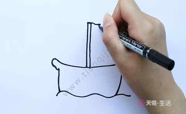 简单画小船 小船简笔画  小船简笔画步骤