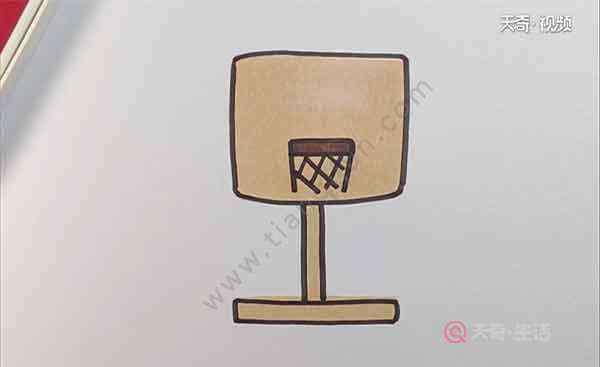 球的简笔画 篮球框简笔画