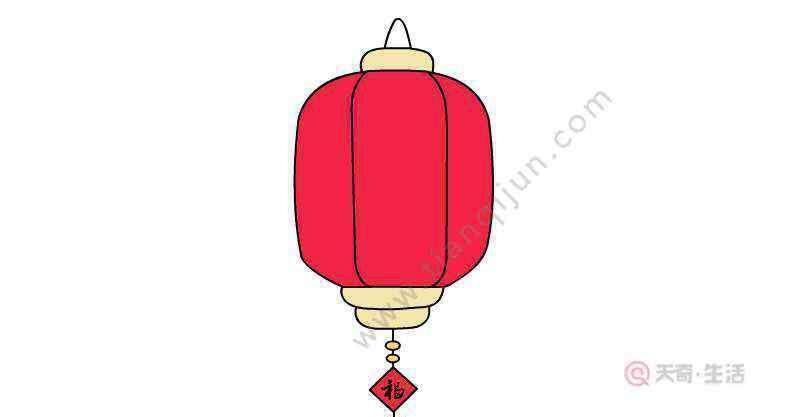 红灯笼简笔画 红灯笼简笔画