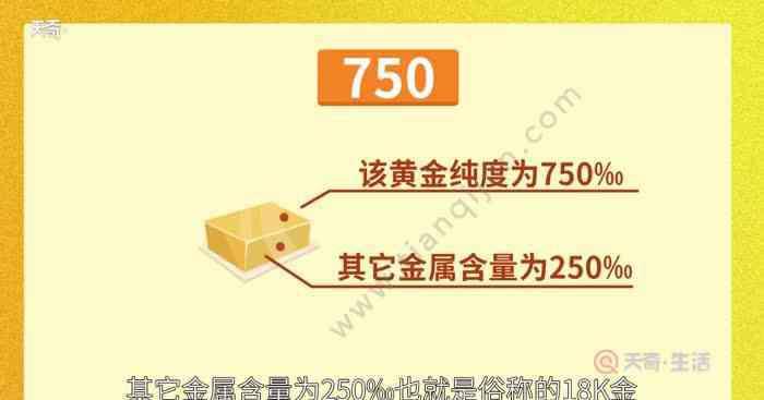 金750是什么金 750是什么金 750是什么意思